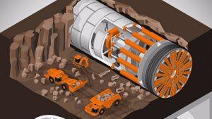 boring machine tunnel
