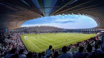 all-timber soccer stadium
