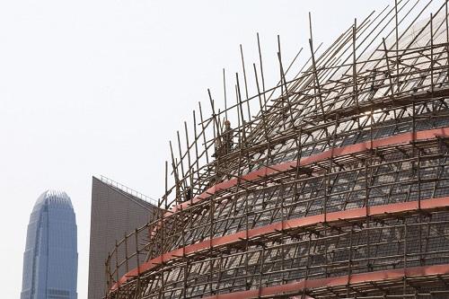 Hong Kong's construction industry grinds to halt