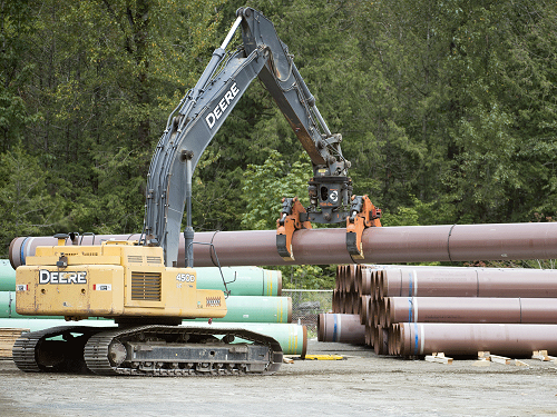 Construction on Trans Mountain pipeline