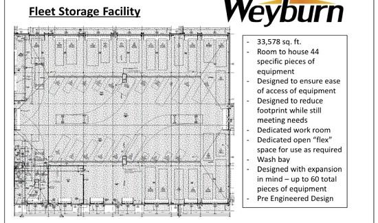 Weyburn fleet storage facility