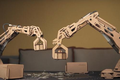 DIY robot arm construction kit
