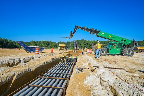 Construction of Ultium Cells LLC Battery Cell Manufacturing Facility