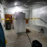 Worker decontamination and staging area