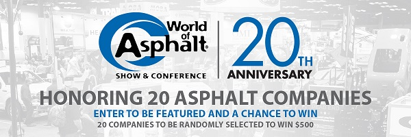 honoring 20 asphalt companies