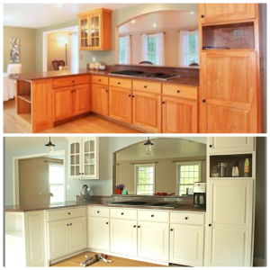 Before and After with Cabinet Transformations