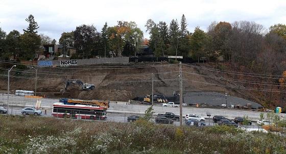 Hillside collapse at Eglinton Crosstown LRT construction site