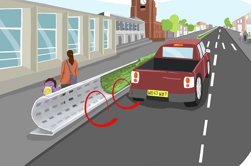 roadside barrier design to mitigate air pollution