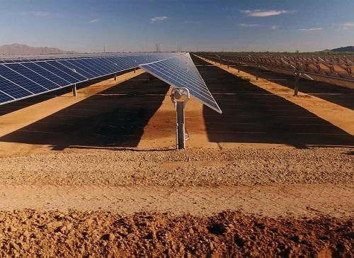 solar panels in the Sahara