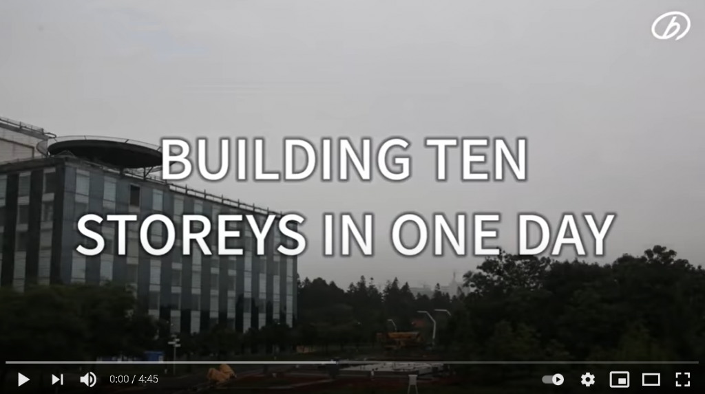 A 10-storey building goes up in 28 hours