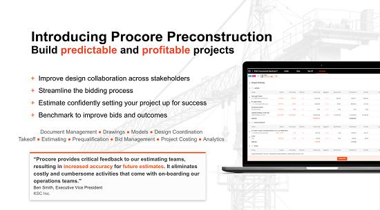 Procore blog - pre-construction